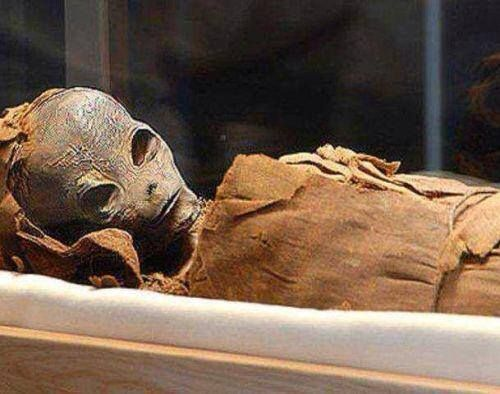 The body of a perfectly preserved, carefully mummified an alien was found buried in an ancient pyramid. A mysterious creature from between 150 and 160 centimeters was found by an archaeologist near Lahun when exploring a small pyramid near the Dynasty doceaba of Senusret II.
