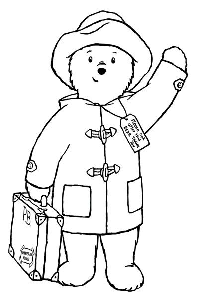 8 Free Paddington Bear Printables Bear Coloring Pages