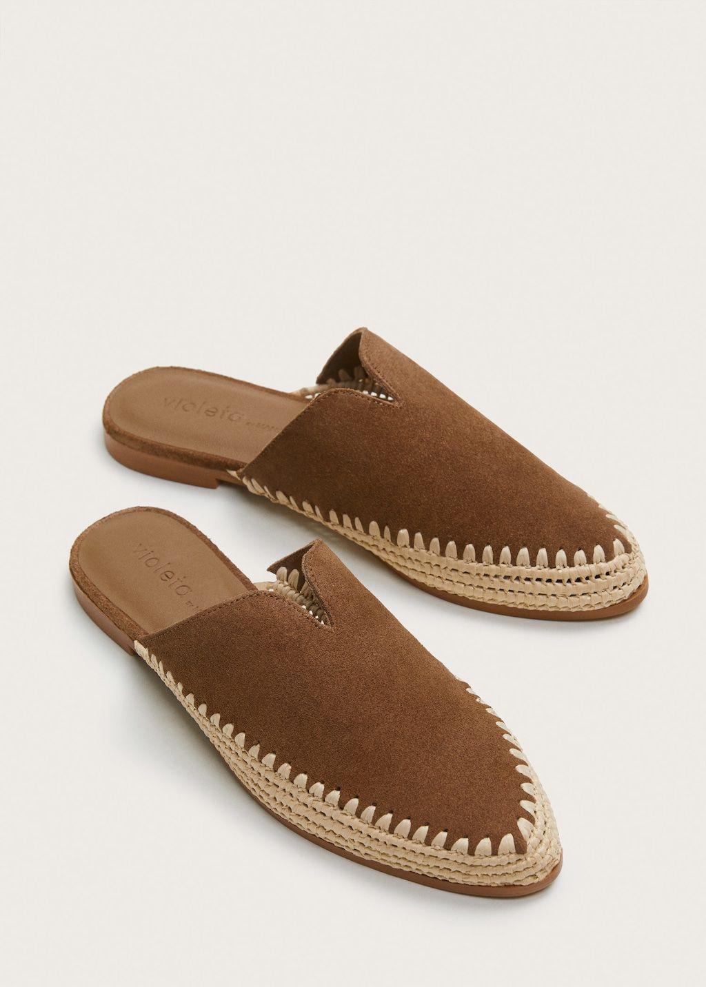 Mule Plana Piel Tallas Grandes Pisos De Cuero Zapatos Planos Zapatos