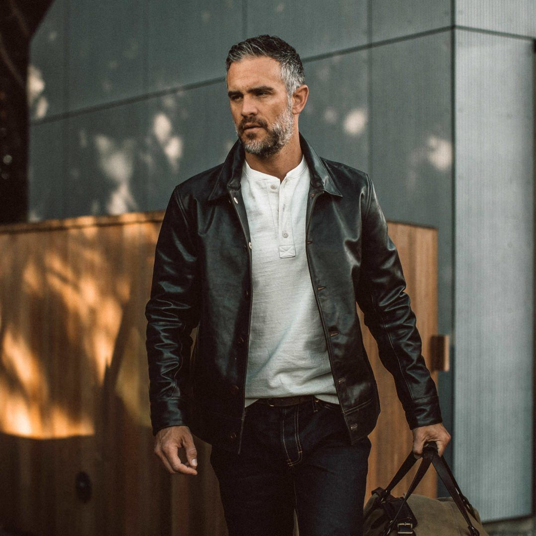 The Cuyama Jacket In Cola Leather In 2021 Leather Jacket Men Jackets Leather Jacket [ 1080 x 1080 Pixel ]