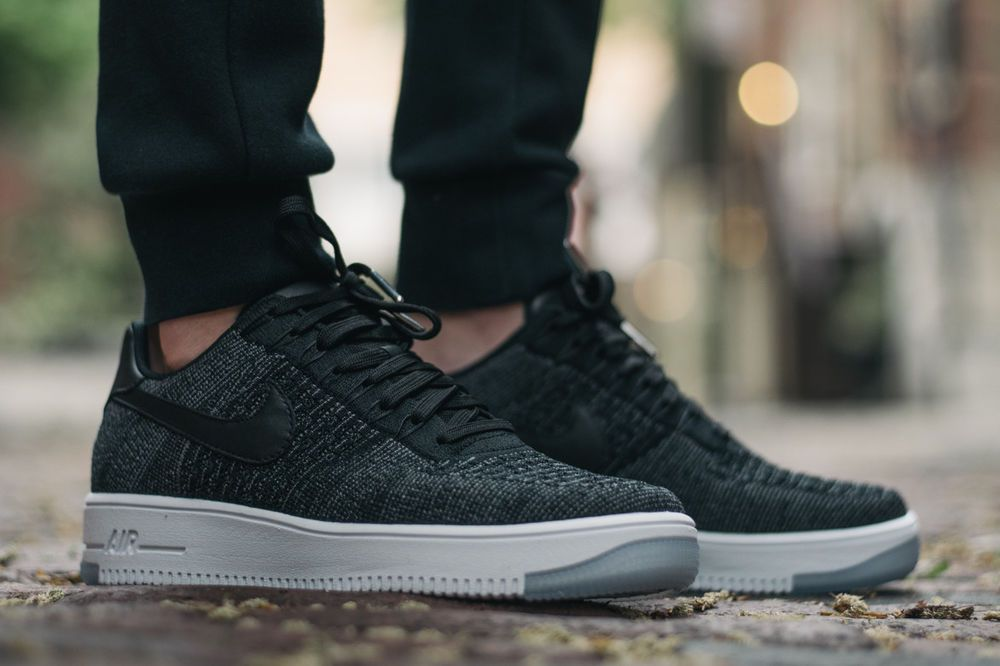 online store 48e40 ea33f Nike Air Force 1 Ultra Flyknit Low AF1 Black  White - 817419 004 - U.K.  Size 6