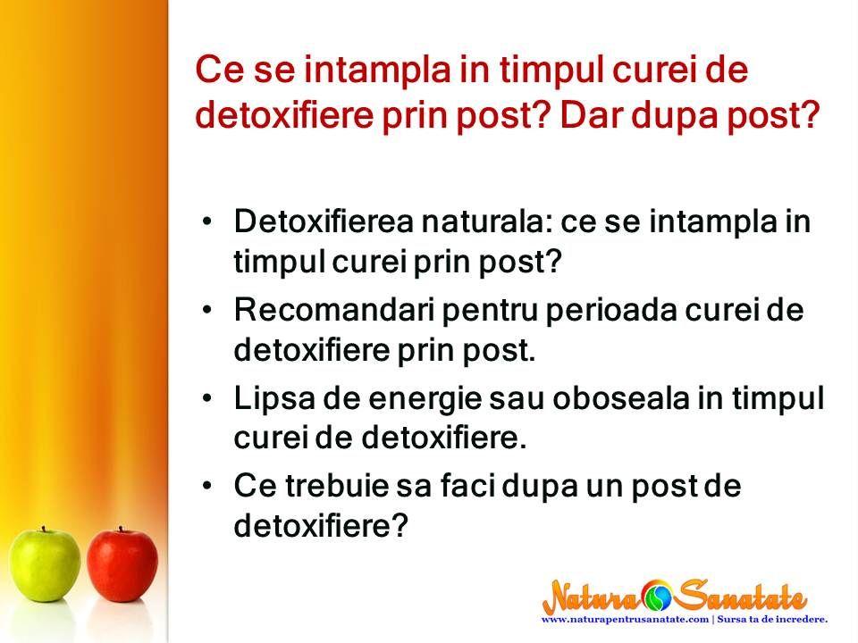 detoxifiere prin post)