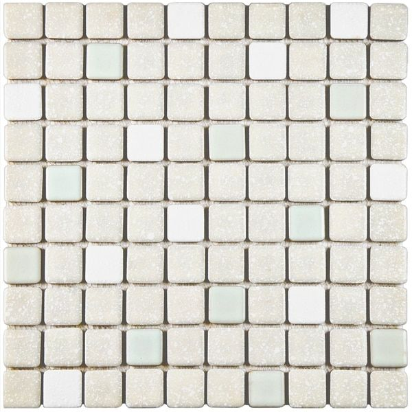 Somertile 11 75x11 75 Inch Scholar Pistachio Porcelain Mosaic Floor And Wall Tile 10 Tiles 9 79 Sqft Tiles Mosaic Tiles Mosaic