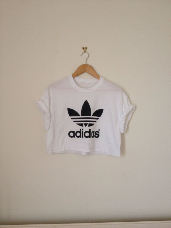 63365451f7433 you are looking at a very cool dope white classic adidas oversized sloughty crop  top tshirt one of a kind