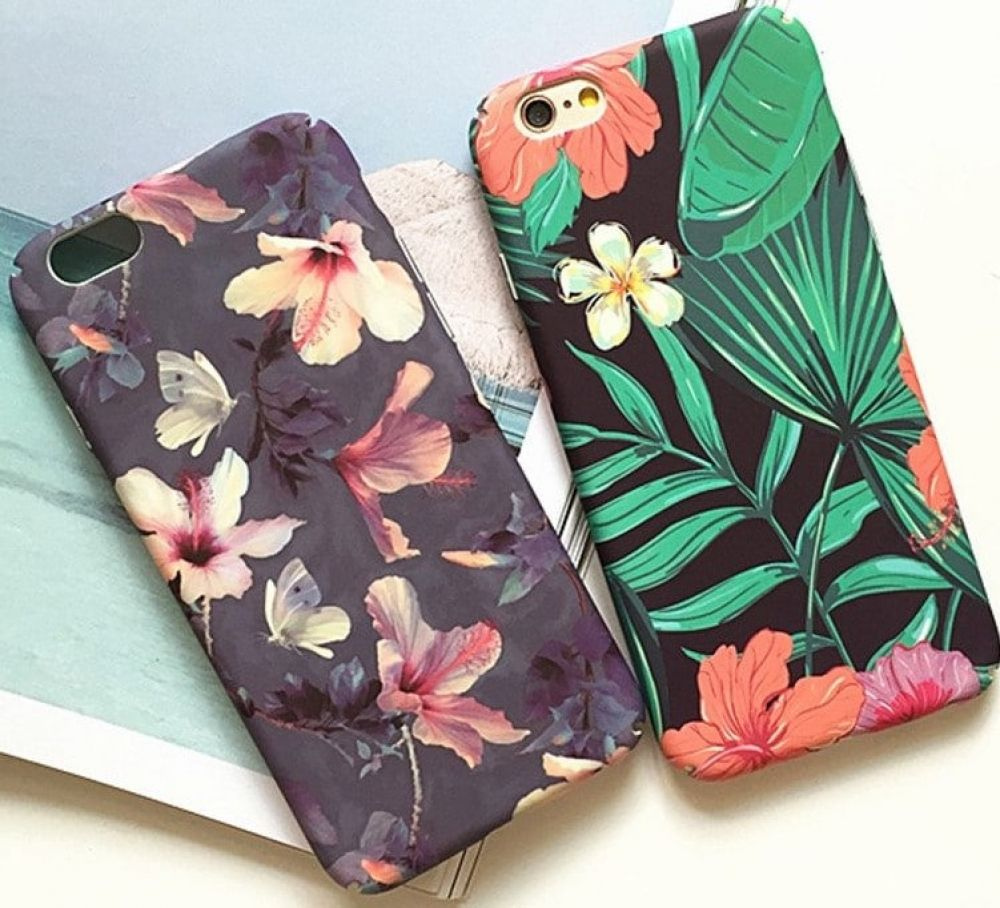 Leaf Flowers Phone Case For IPhone 6 6S 7 7 Plus Flower