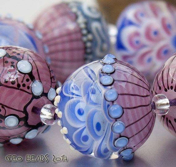 """Artisan Lampwork Beads - """"Pink Day"""" #ArtisanLampworkBeads"""