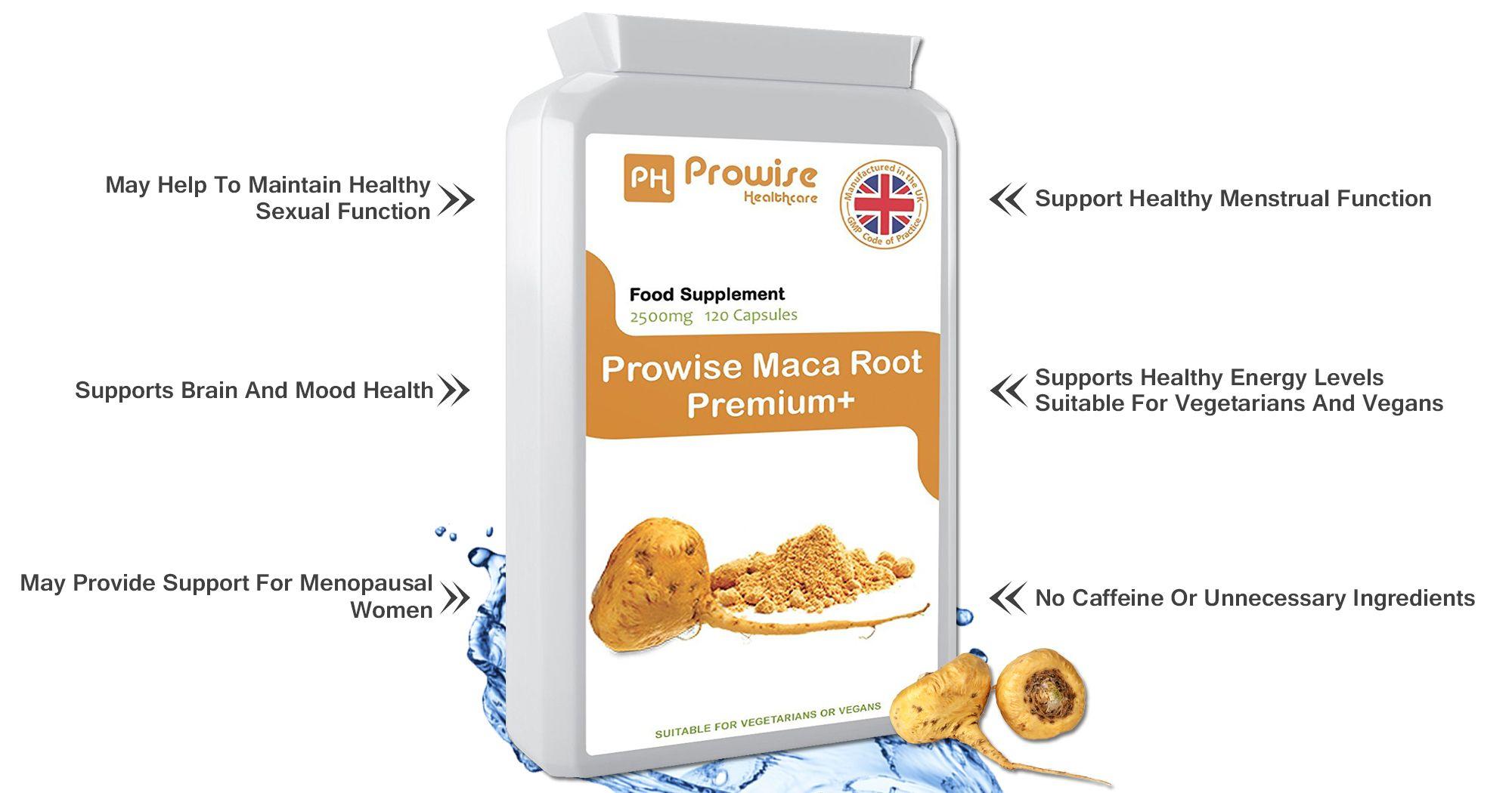 Prowise Maca Root Premium+ maca root side effects, maca root