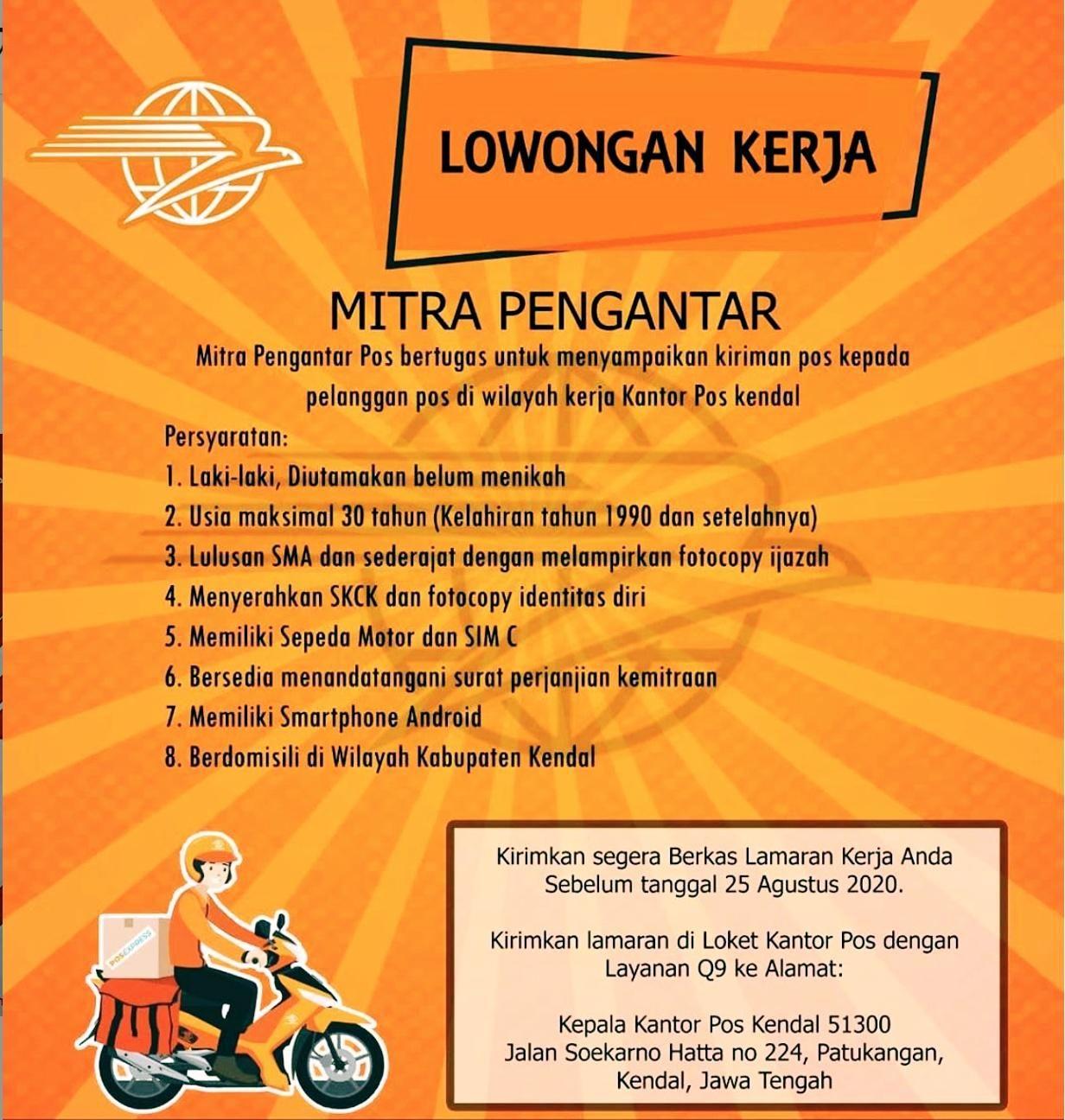 Lowongan Kerja Pt Pos Indonesia Persero Kerja Kantor Pos Indonesia