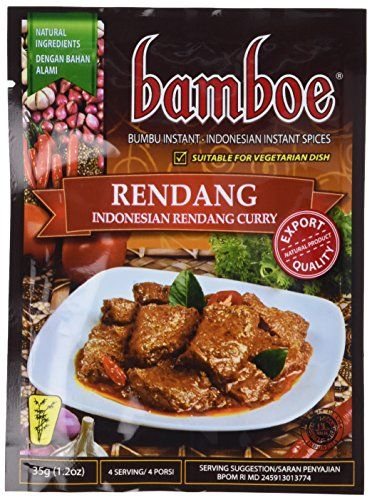 Bamboe Rendang Indonesian Dry Curry Paste Indonesian Instant