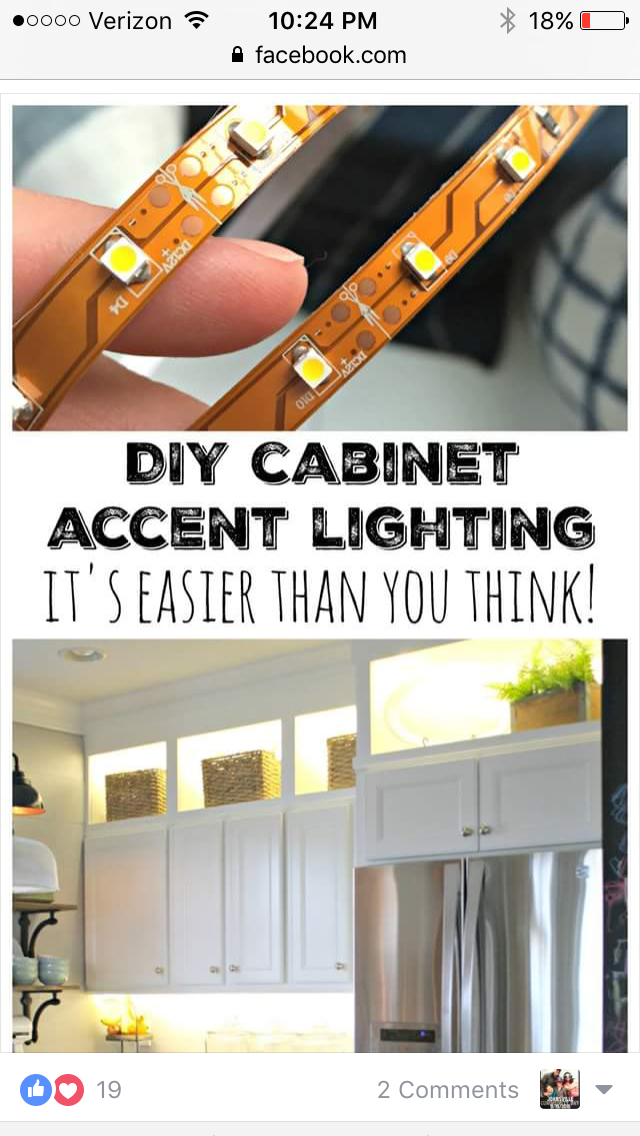 Diy Under Cabinet Lighting Diy Upper And Lower Cabinet Lighting  Kitchens Kitchen Cabinetry