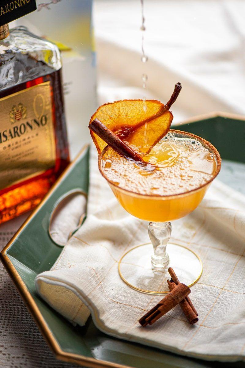 Spiced Pear Martini Shake up a spiced pear martini