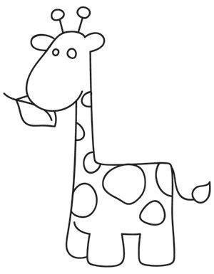 Disegno Giraffa Pannolenci E Feltro Pinterest