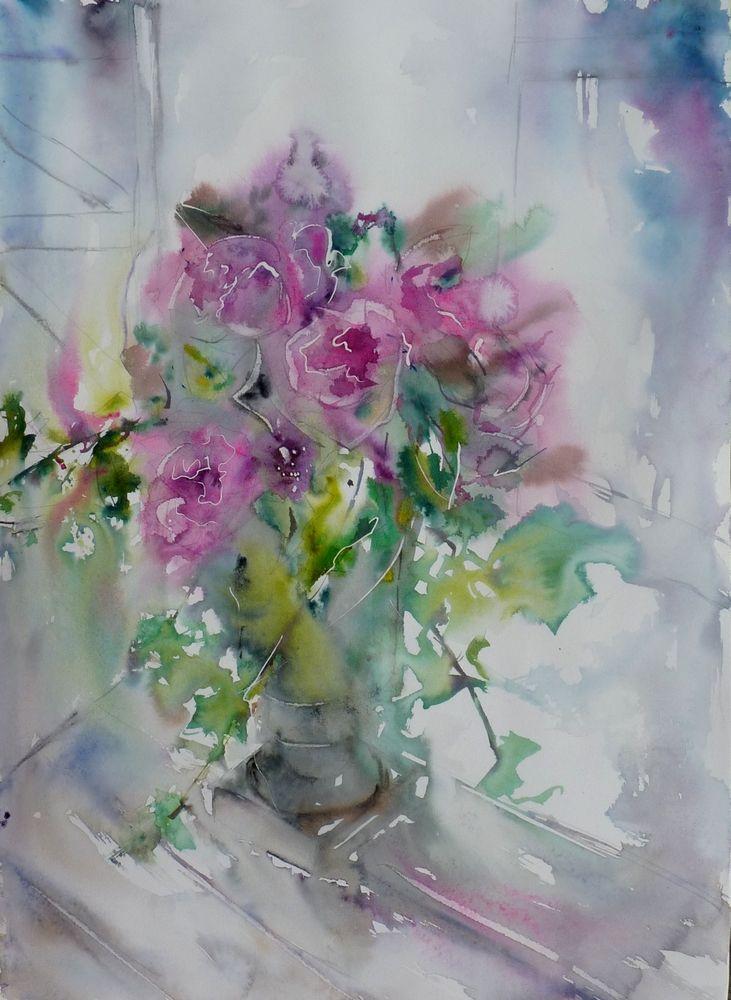 Bouquet De Roses Bouquet De Roses Peinture Fleurs Aquarelle Fleurs