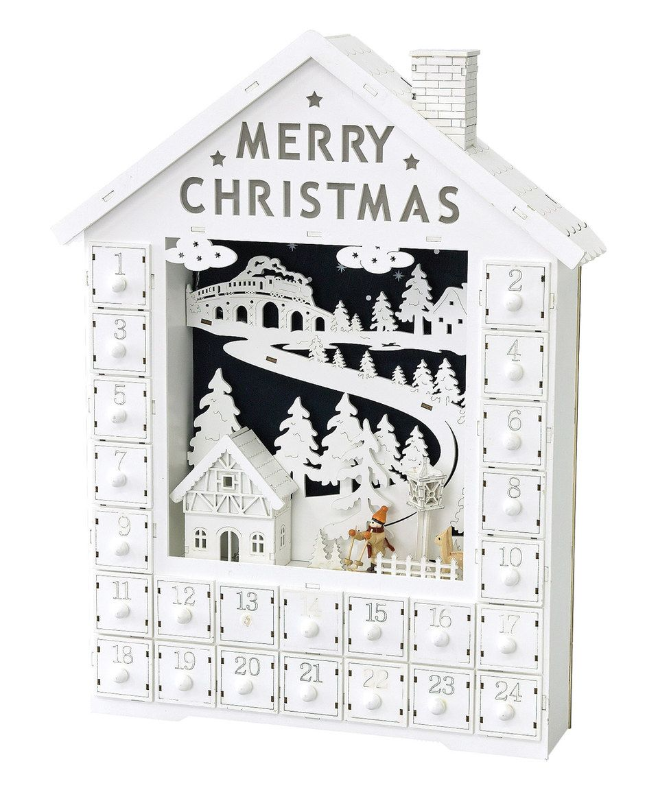 Look At This Zulilyfind White Nordic Led House Advent Calendar By
