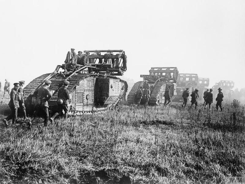"""Royal Tank Regiment on Twitter: """"St Quentin 1918   99 years ago today our forebears advanced with their Mk Vs at Bellicourt #FearNaught https://t.co/Y1DOlRJco4"""""""