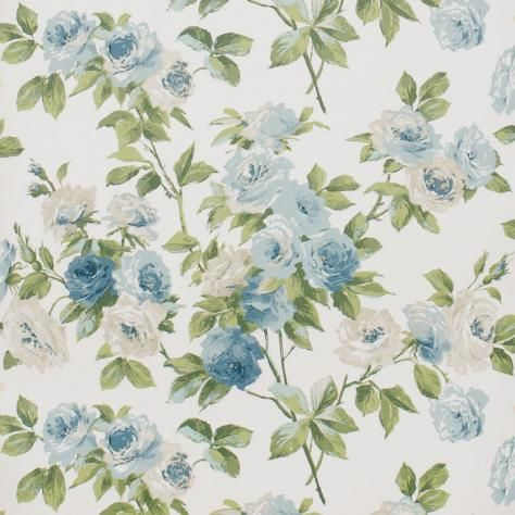 Eglantine Wallpaper Slate Blue Dviweg102 Sanderson Vintage