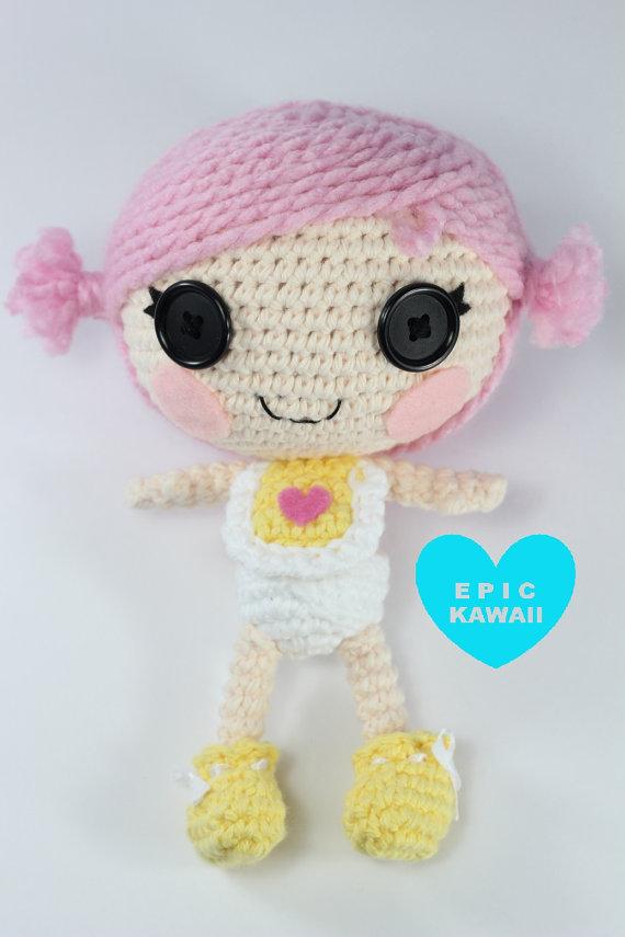 PATTERN: Little Crochet Amigurumi Doll | Lalaloopsy, Amigurumi and ...