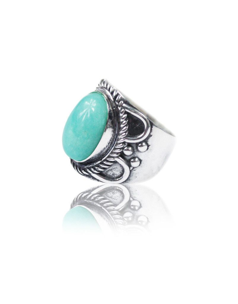 Pure Turquoise Ring Nohow Style Rings Turquoise Gemstone Rings