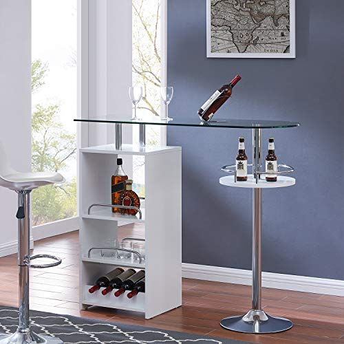 southern enterprises kirby bar table chrome high gloss