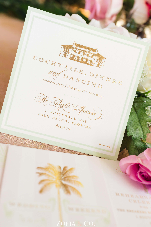 Elegant Palm Beach Wedding ⋆ Nico and Lala | Wedding Invitations ...