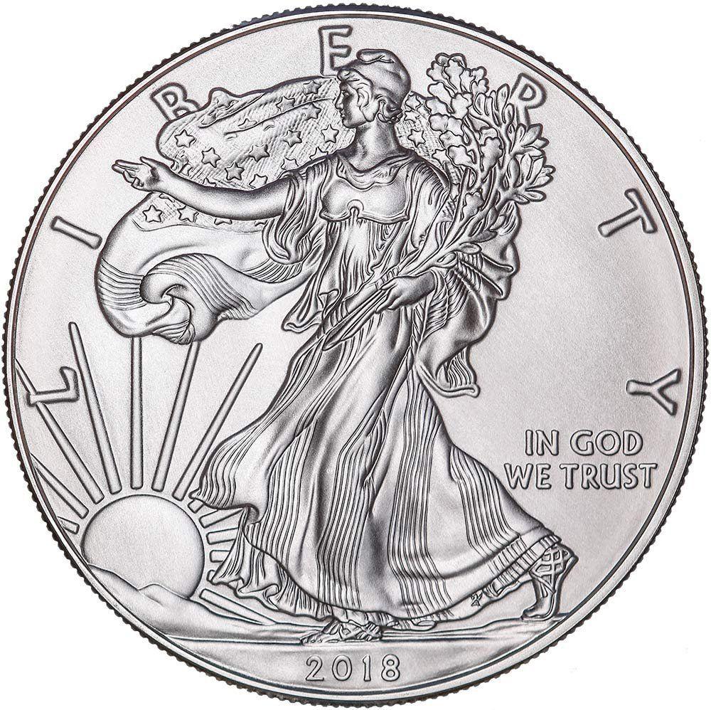 2018-1 oz American Silver Eagle Coin Brilliant Uncirculated