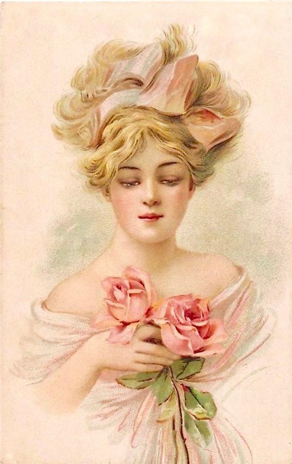 Имя алиса, винтажные открытки женщины