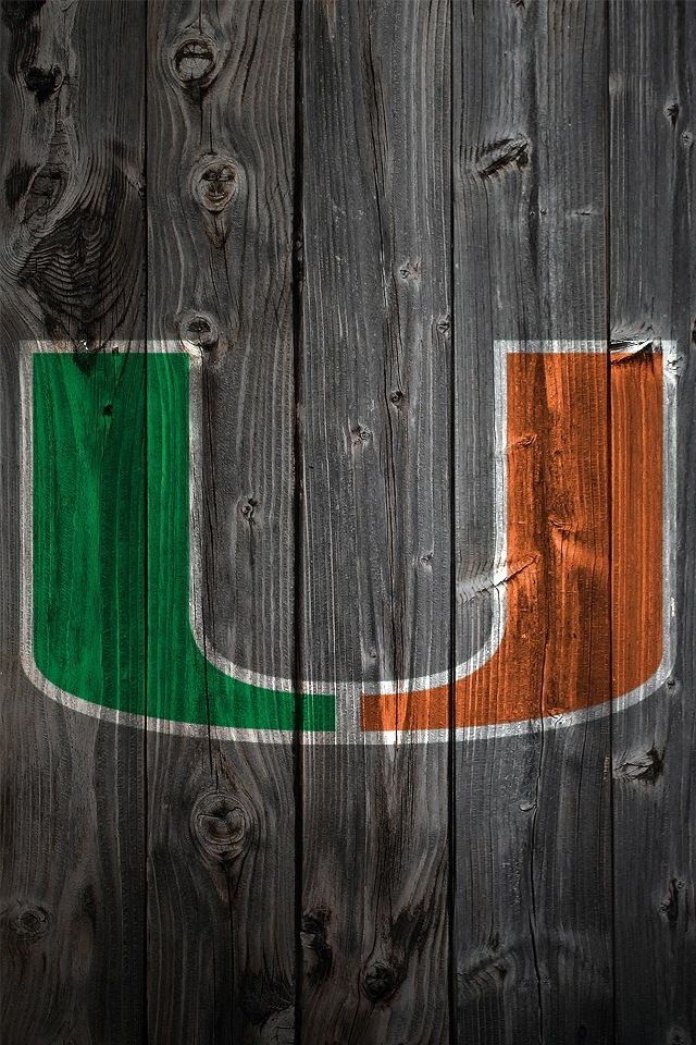 University Of Miami Hurricanes Theu University Of Miami Hurricanes Miami Wallpaper Miami Decor