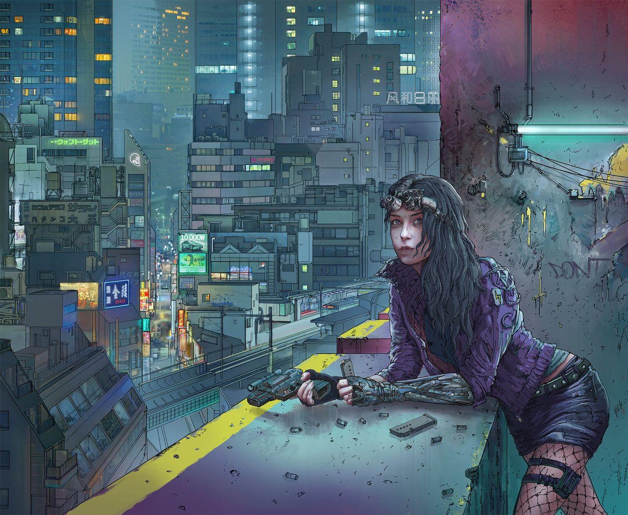 Art And Things Cyberpunk Anime Cyberpunk Aesthetic