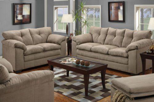 F7819b Montreal Mineral Microfiber Sofa Loveseat Furniture2go