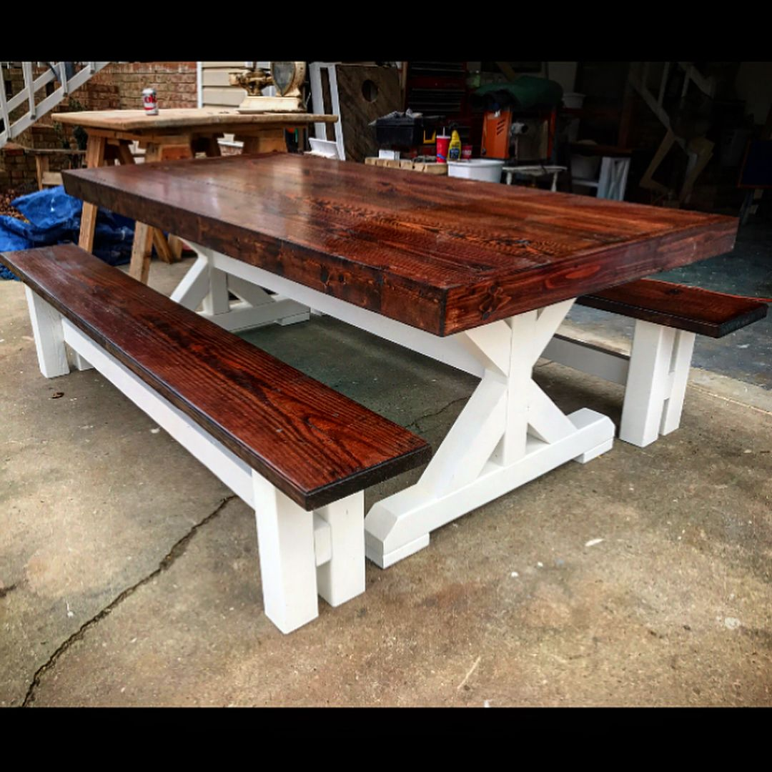 252 Likes 11 Comments Hillbuildit Creations Llc Hillbuilditcreations On Instagram Sitting Here Already Dining Table Rustic Dining Table Farmhouse Table
