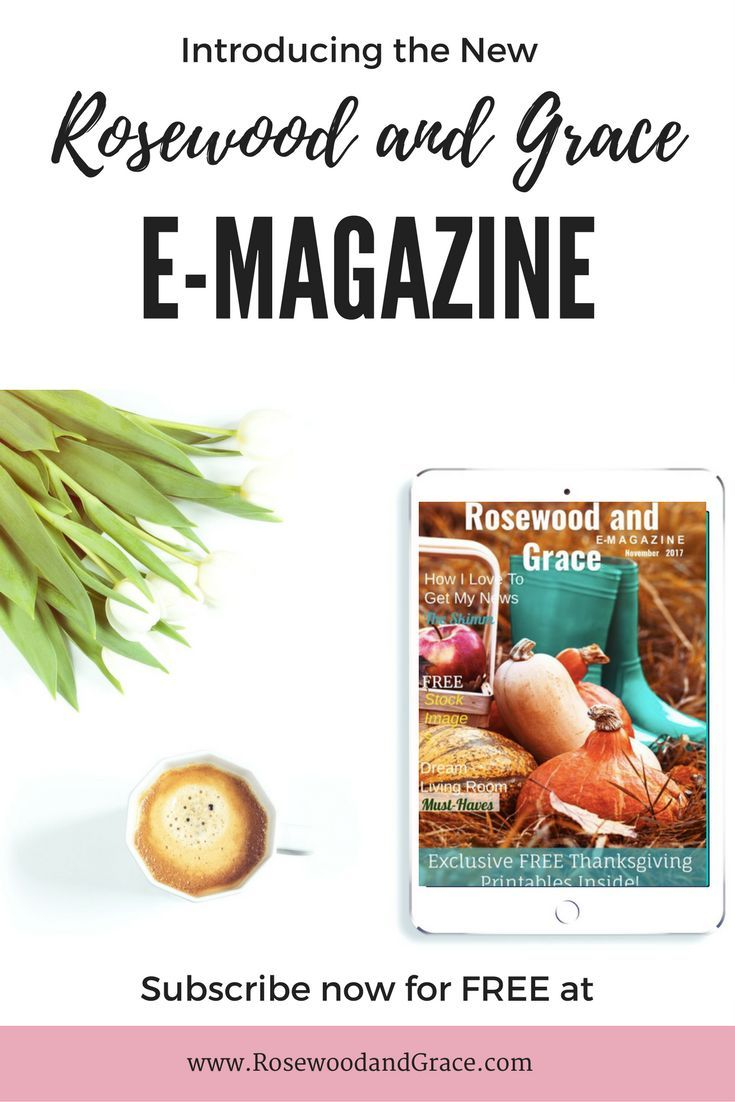 Introducing the Rosewood and Grace e-magazine! Sign up to receive this FREE monthly e-mag and get exclusive content delivered straight to your inbox!