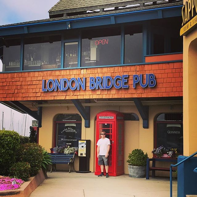 My honey is spoiling me today! Had lunch at the London Bridge Pub on the wharf. #montereybay #londonbridgepub #fishnchips #montereybaylocals - posted by Kim https://www.instagram.com/kimbriel84 - See more of Monterey Bay at http://montereybaylocals.com