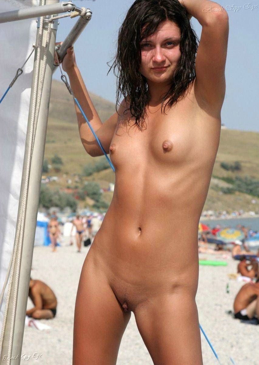 Shy girls naked in nude beach 4