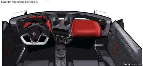 Alfa Romeo 4C interior design sketch