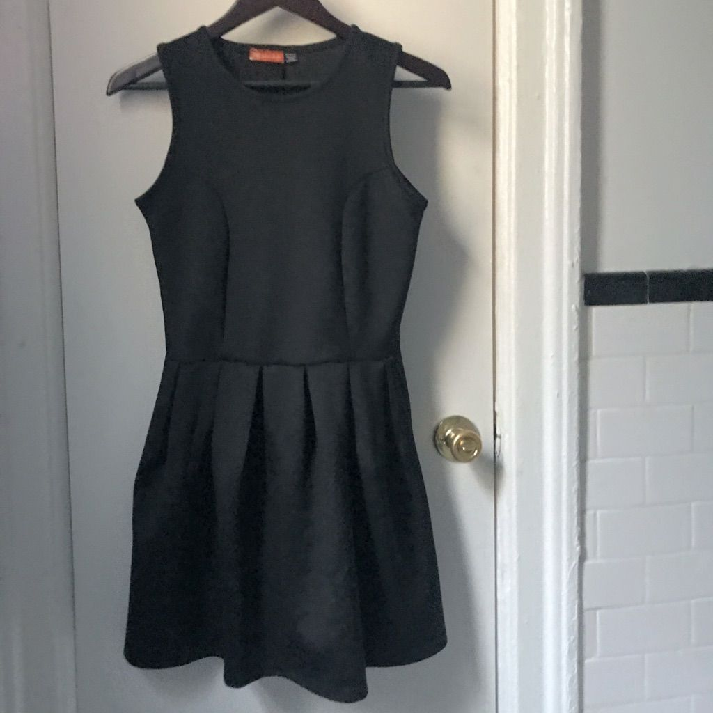 Little Black Pleated Mini Dress