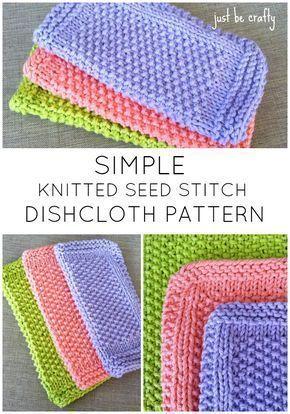 Seed Stitch Dishcloth Pattern Free Pattern By Knitting Patterns