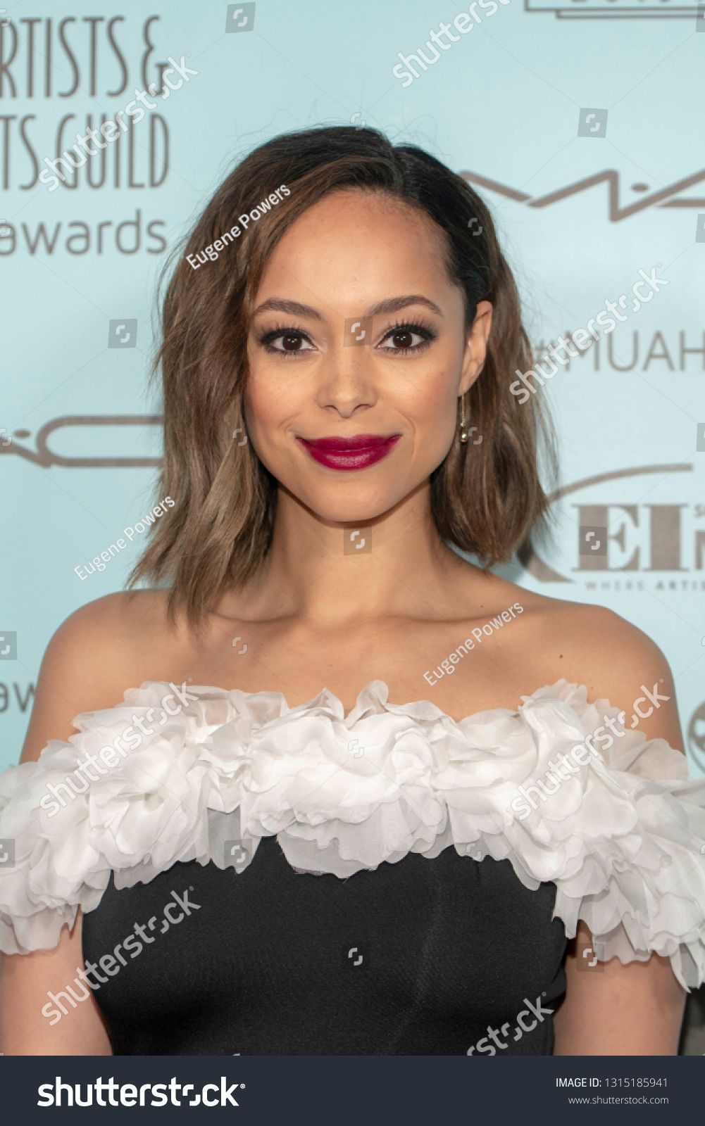 Amber Stevens West attends 2019 Makeup Artists and Hair