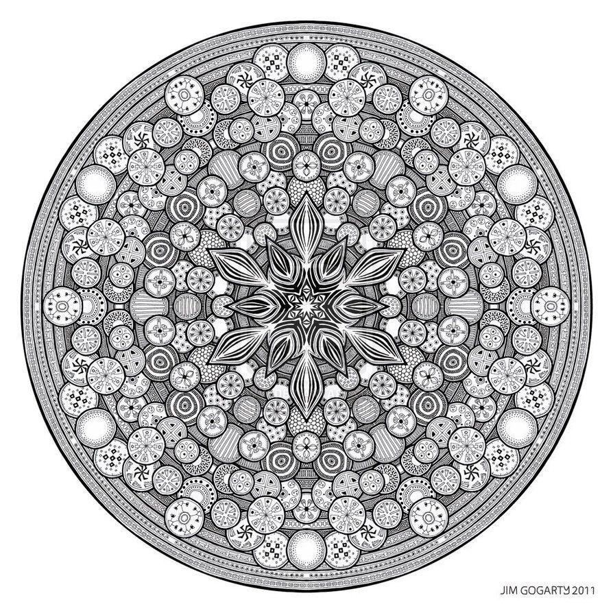 Mandala drawing 26 by Mandala-Jim | Magickal Meditation Coloring ...
