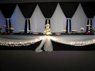 Black Tulle With White Lights Backdrop Wedding Pinterest