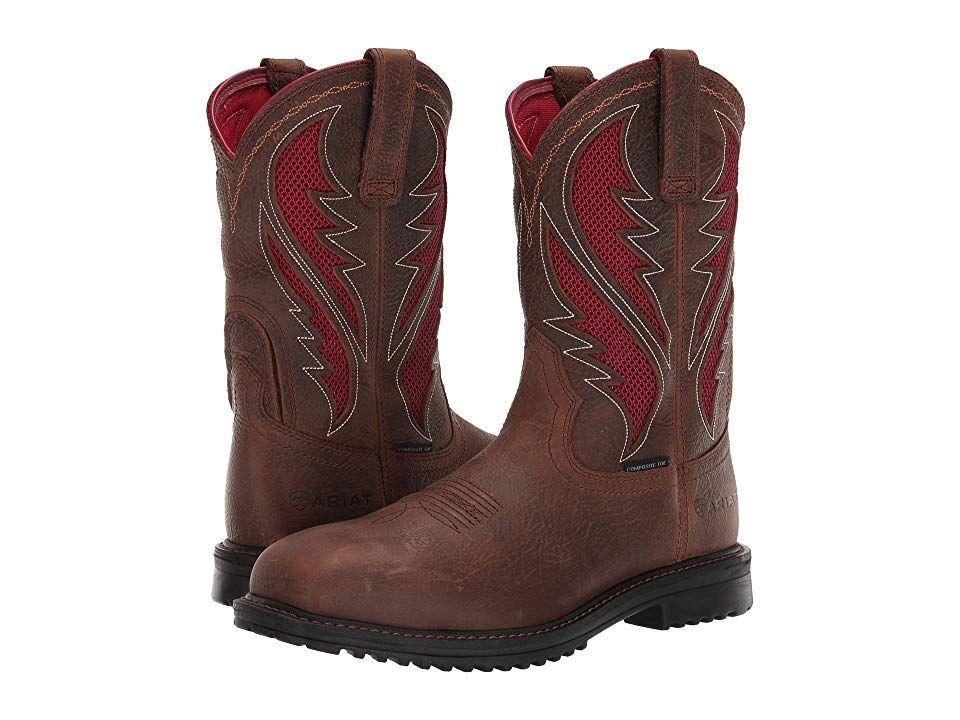 81afebfa6d9 Ariat Rigtektm Venttektm Composite Toe Men's Work Pull-on Boots Rye ...