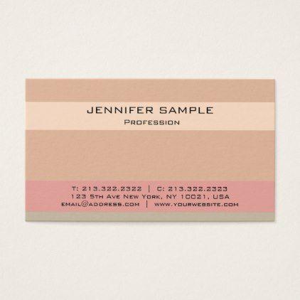 Modern Elegant Professional Color Combination Business Card - trendy