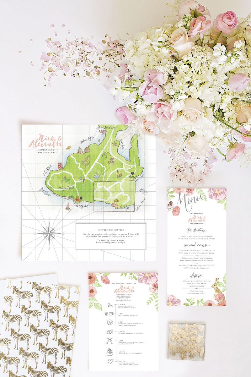 Customised Wedding Invitations; Pearlyn and Paper; wedding ...