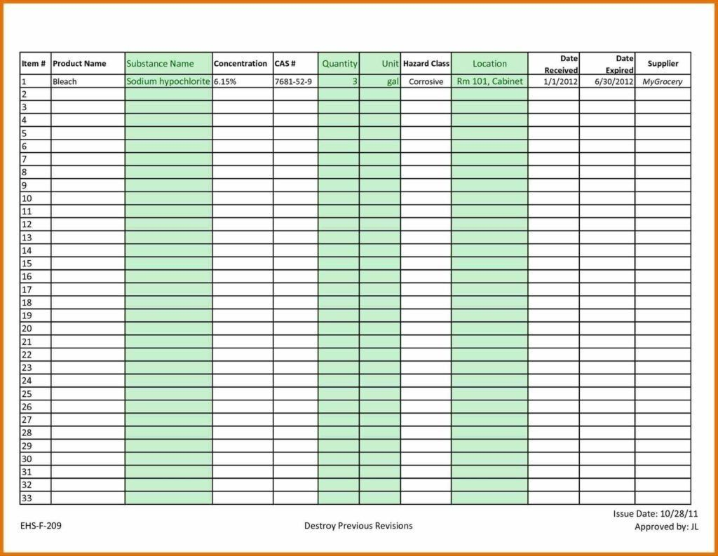 Sample Invoice Tracking Spreadsheet Tracker Format