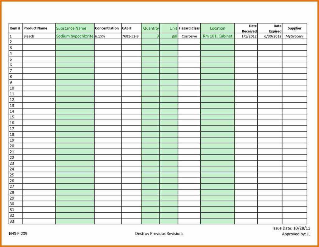Sample Invoice Tracking Spreadsheet Tracker Format