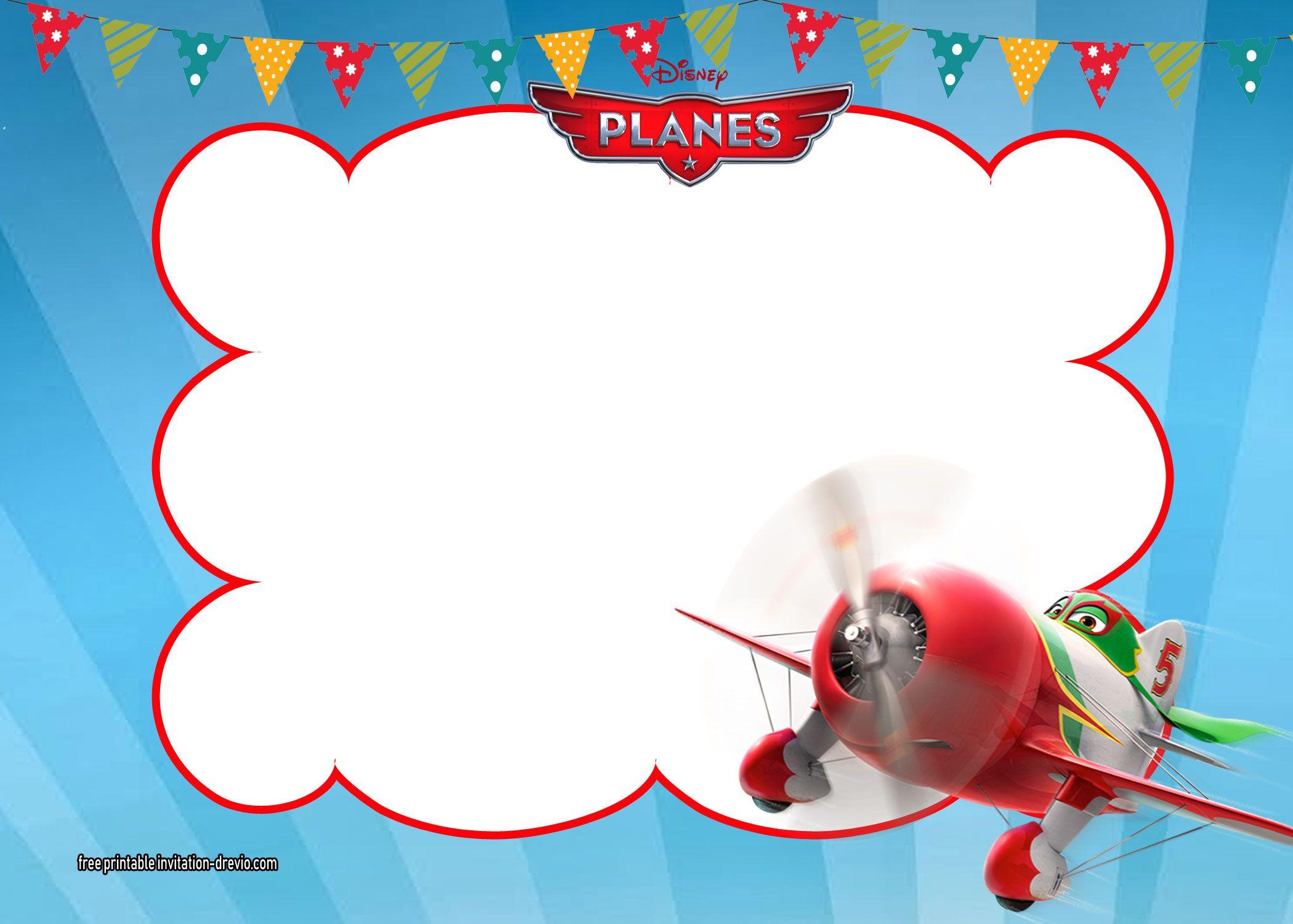 Disney Planes Invitations Templates Planes Birthday Disney Planes Birthday Free Birthday Printables