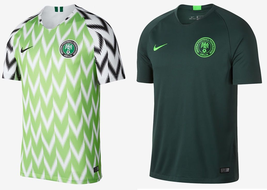 World Cup 2018 Kits Nigeria Home Away Jerseys Nike Voted The Best Home Kit Of The Tournament Disnaija Worldcup201 Home And Away World Cup Mens Tops
