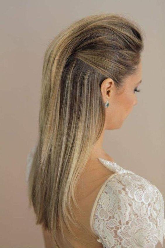 Peinados faciles para fiesta cabello lacio