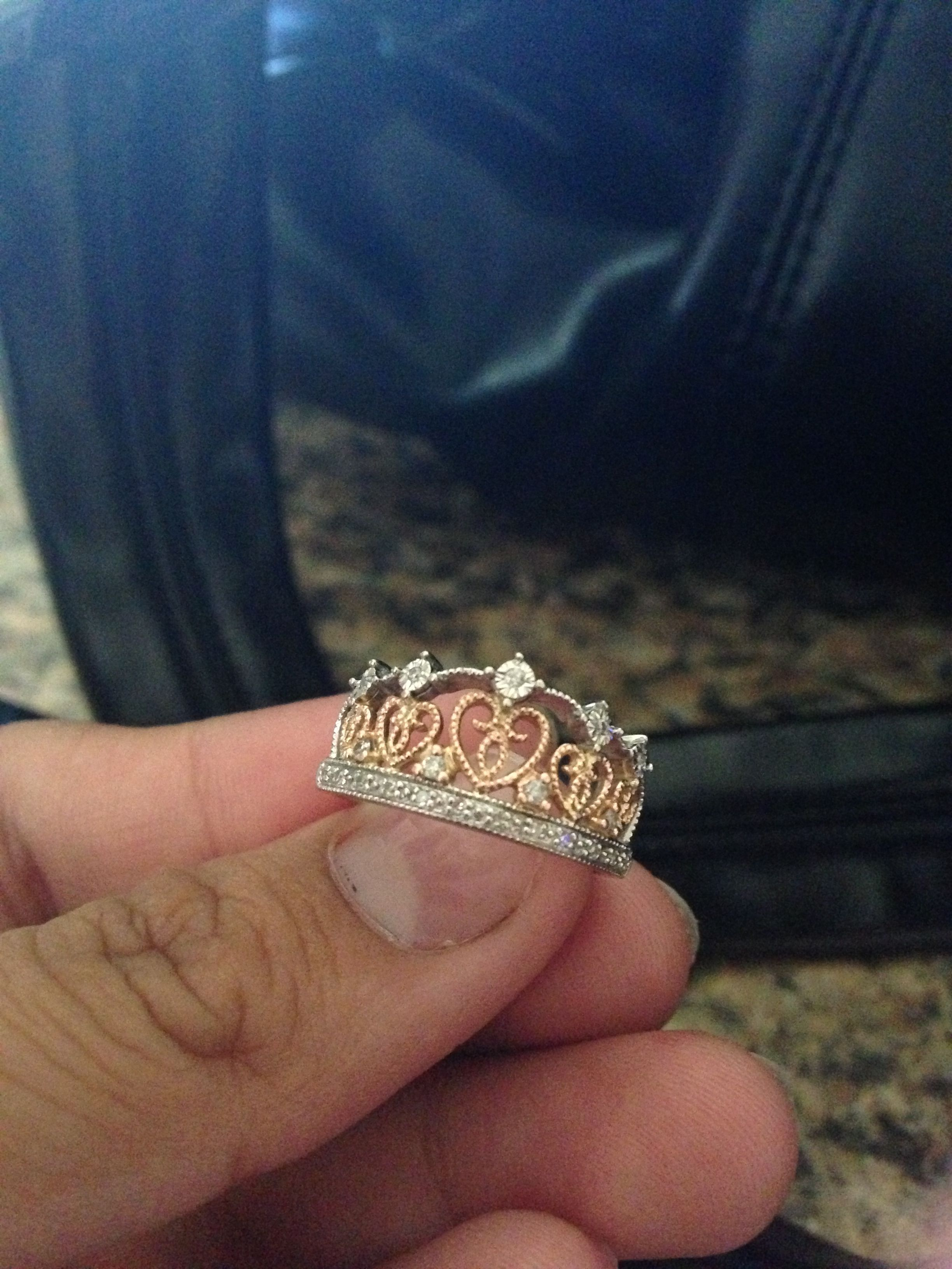 Princess crown ring Jewelry Pinterest