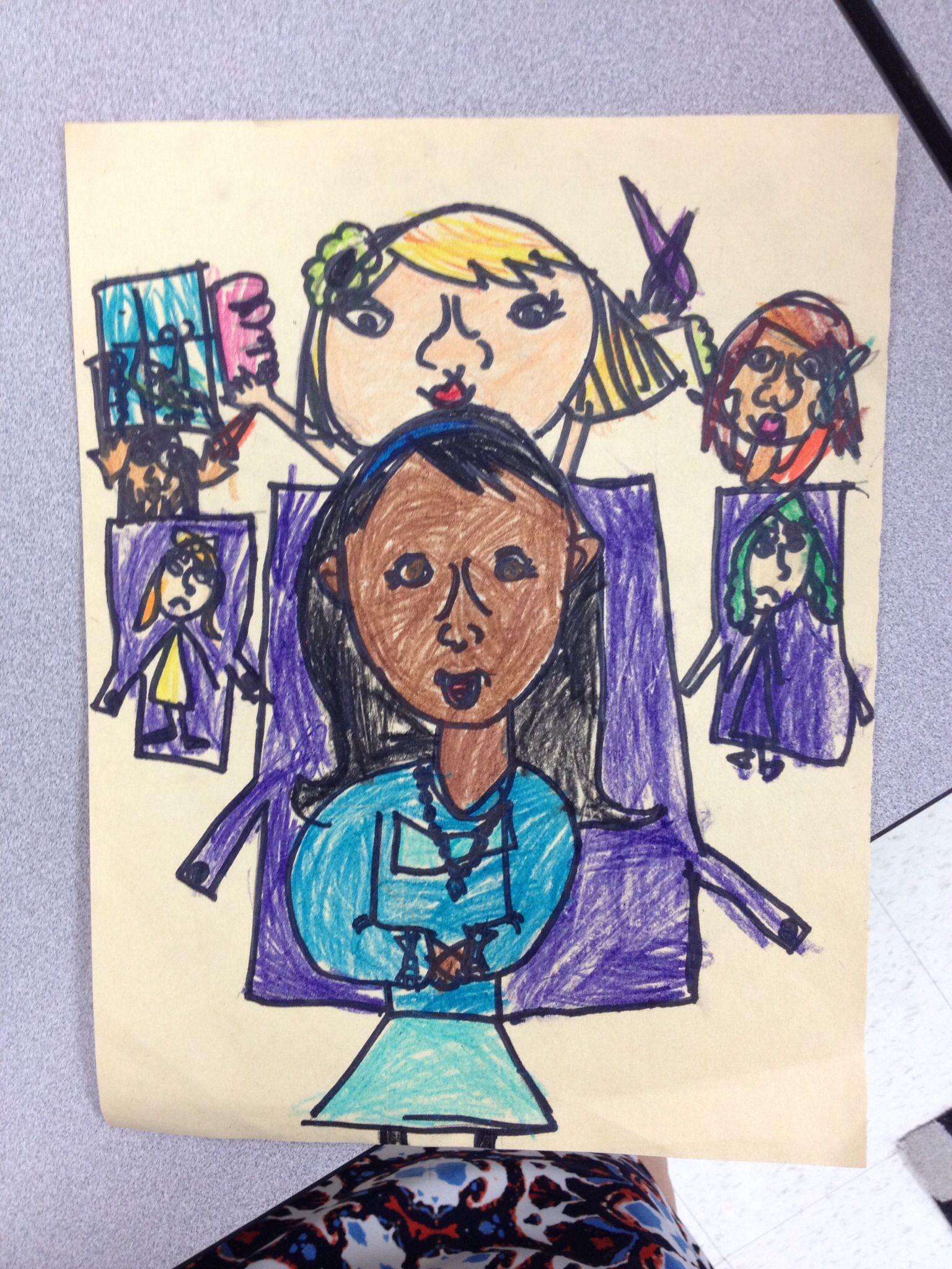 Kindergarten Art Mona Lisa Lesson (With images ...