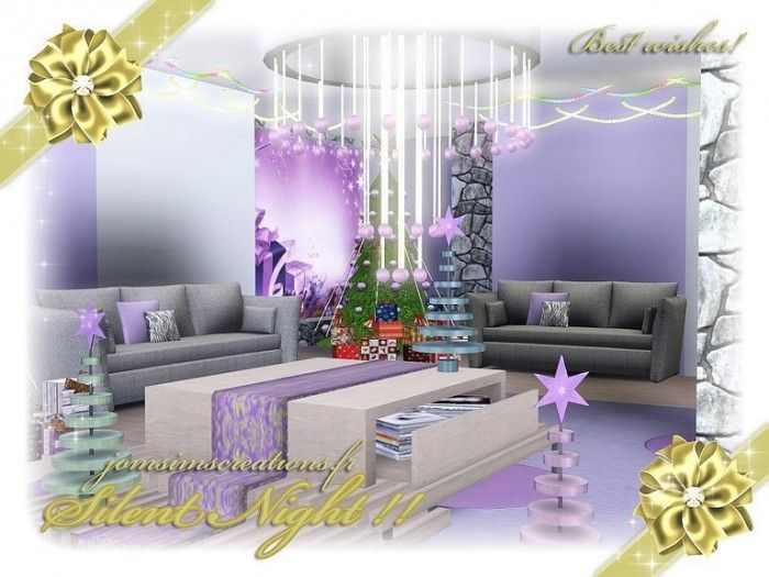 Silent Night livingroom by Jomsims  Sims 3 Downloads CC